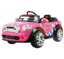 Auto dla dzieci wzorowane na MINI + pilot dla rodzica - kolor różowy